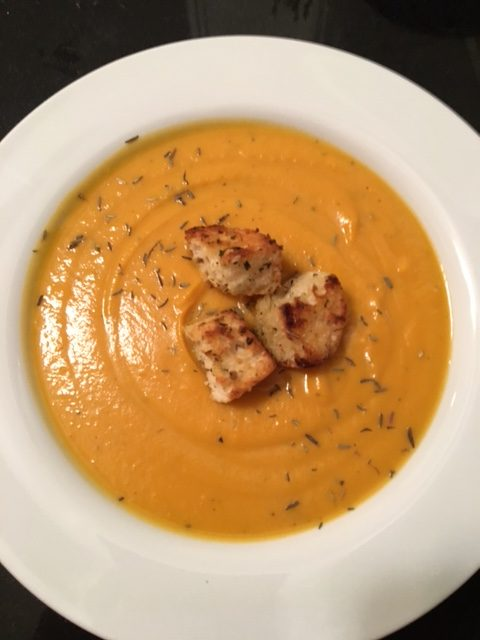 Butternut Squash Sweet Potato Bisque